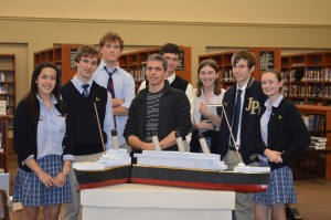 Allan Wolf with JPII Juniors and Sophomores